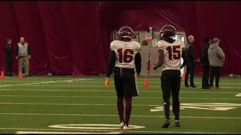 Sun Devils defensive backs work with coach Herm Edwards during spring camp