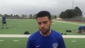 Socorro senior Ezequiel Chavez is one of the team's top players this season. Socorro has already clinched the District 1-6A title.