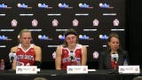 USD Coach Dawn Plitzuweit and players recapped a tough loss to South Dakota State in the Summit League final.