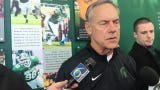 Mark Dantonio previews MSU spring football and updates the health of QB Brian Lewerke's shoulder injury going into practice. Filmed March 12, 2019.
