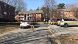 Raw video: Police tape marks off scene at Stonehurst Garden Apartments in Newport.
