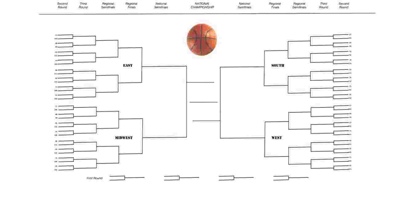 This is a picture of Striking Tournament Bracket Printable