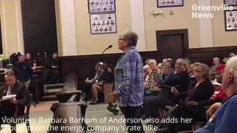 People in the Anderson community voice their concerns on Duke Energy's proposed rate hike during a public hearing Wednesday, March 13, 2019.