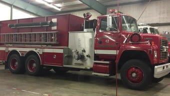 The Holiday Village Fire District donated a pumper tanker truck to Grant Parish Fire District #5 on Wednesday (March 13, 2019). The two districts have a mutual-aid agreement, which means they help each other on calls when needed.