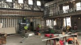 """Woodbridge Mayor John McCormac and staff provide a tour of Avenel Performing Arts Center, which will open on April 10 with """"Dixie's Tupperware Party."""""""