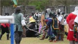 People across the country come together for the Medieval Gulf Wars in Lumberton