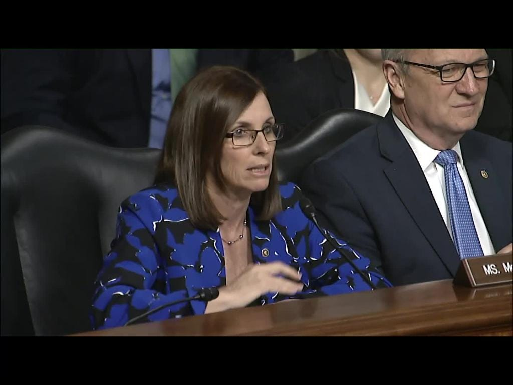 Sen. Martha McSally in Senate Armed Services Committee hearing