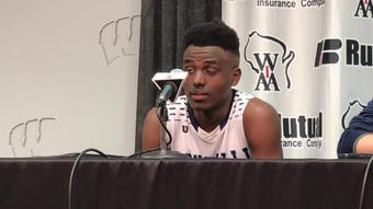Roncalli senior Chombi Lambert talks about the Jets' loss to New Glarus in a WIAA Division 3 state semifinal game at the Kohl Center in Madison.