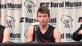 Hayden Jones talks about his game-winning basket to send Lourdes Academy to a WIAA Division 4 state semifinal victory over Osseo-Fairchild.