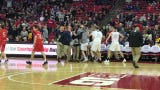 Tom Nystrom hits the game-winning shot to lift Columbus Catholic to Division 5 state semifinal victory at the Kohl Center in Madison on Friday.