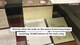 """""""Apollo in the Archives: Selections from the Neil A. Armstrong Papers,"""" opens March 18 and runs through Aug. 16."""