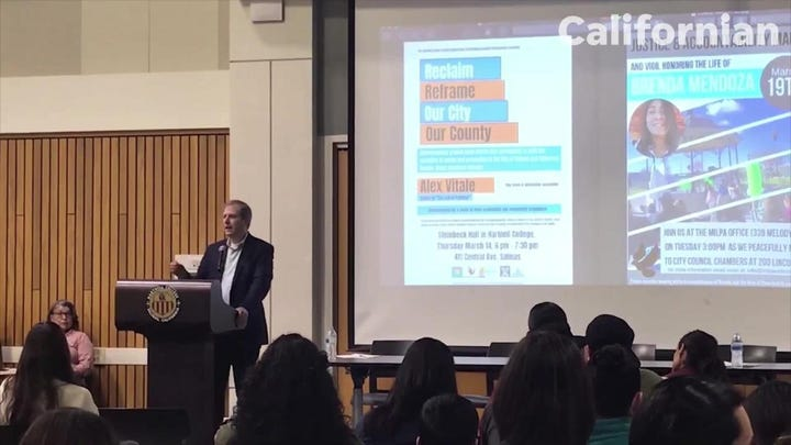 RAW VIDEO: author Alex Vitale talks on racism, policing alternatives in Salinas