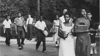 The first few days of class in 1956 for the Clinton 12 turned violent after agitators tried to turn Clinton into a rallying cry for segregationists.