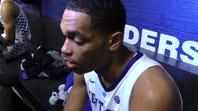 Kentucky basketball's PJ Washington talks after the win over Alabama