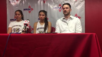 Kirtland comes up short, falling 49-43 to Los Lunas Friday in Albuquerque. The Lady Broncos made their first state finals appearance since 2012.