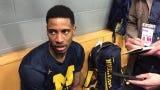 Michigan's Charles Matthews discusses his return to the starting lineup in 74-53 win over Iowa in Big Ten tournament quarterfinals March 15, 2019.