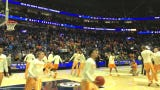 Tennessee basketball's pregame dunk before taking on Kentucky in the SEC tournament