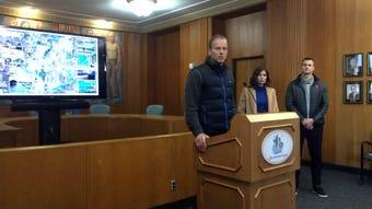 Sioux Falls mayor Paul TenHaken, Governor Kristi Noem and Sen. John Thune held a news conference Saturday to discuss city flooding.