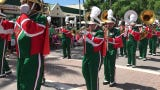 The Dunbar High School band marched in the annual Naples St. Patrick's Day Parade on Saturday, March 16, 2019.