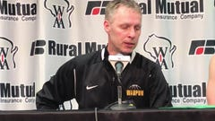 Waupun coach Dan Domask talks about the Warriors' loss in the Division 3 state title game