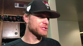 Diamondbacks right-hander Matt Koch gave up four runs in five innings against the Cubs on Saturday, utilizing a fastball that was touching 94 mph.