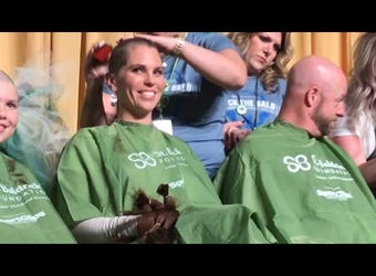 An estimated 200 people shaved their heads to support cancer research at the annual St. Baldrick's Foundation Brave the Shave event on March 15, 2019.