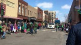 Central Minnesotans packed the St. Patrick's Day parade route down West St. Germain Street Sunday.