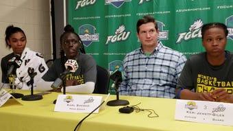 WATCH: FGCU players, coach react to ASUN title, NCAA tournament berth