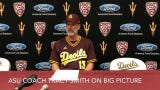 Pitcher Chaz Montoya, coach Tracy Smith on No. 19 ASU baseball being only unbeaten team left in Division I