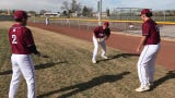 Deming High Wildcat baseball players practice pregame ritual