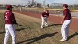 Deming High Wildcat baseball players practice pregame ritual