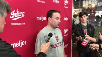 IU coach Archie Miller speaks with reporters Monday about the Hoosiers' NIT selection, and their Tuesday visit from Saint Francis (Pa.).