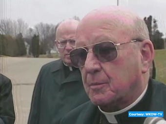 Parishioner Abe Kallenbach did a TV interview after Father Kunz's death. Police questioned him and tested his DNA, which did not match the crime scene.