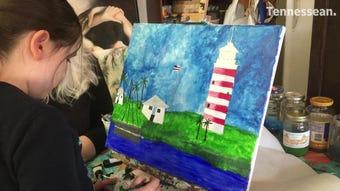 Take a peek inside Studio 76 Artists Group where teacher Charlotte Byrdfeather helps artists like Anastasia master their skills.