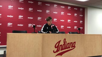 IU coach Teri Moren speaks with reporters about the Hoosiers' NCAA berth Monday night, their second in four years.