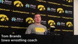 Iowa coach Tom Brands discusses Austin DeSanto ahead of the 2019 NCAA Wrestling Championships.