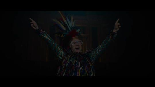 Elton John musical 'Rocketman' begins blast off as star Taron Egerton reveals first footage