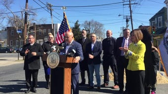 Camden Mayor Frank Moran challenges local business owners and residents to help keep their neighborhoods clean.