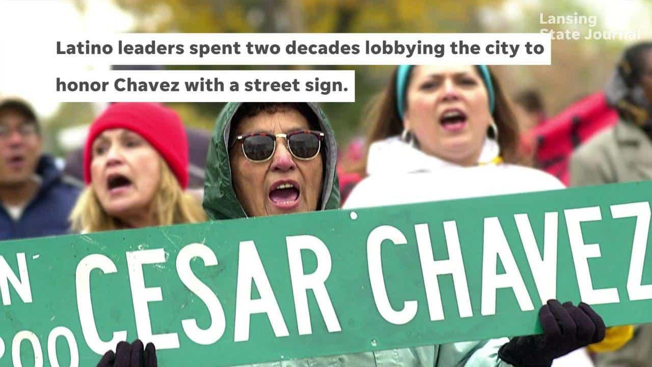 Lansing memorializes Cesar Chavez by renaming road