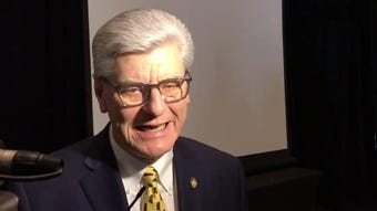 "Gov. Phil Bryant was in Hattiesburg on Tuesday, March 12, 2019, when he said he was looking forward to signing the ""heartbeat"" bill."