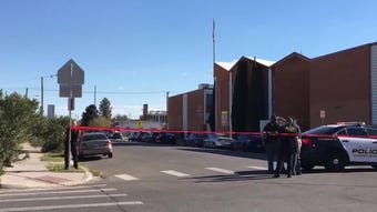 One shot; suspect ran into campus of Lydia Patterson Institute in Segundo Barrio in South El Paso.