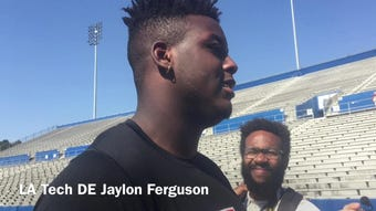 Louisiana Tech defensive end Jaylon Ferguson discusses the NFL combine ordeal, how it dictated his approach at Pro Day.