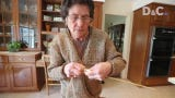 Talk about recycling, Greece woman uses more than 300 plastic shopping bags to knit a suit.