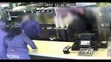 Cameras caught woman throwing things at Burger King employee