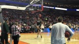 The Michigan State basketball team finishes its NCAA Tournament practice with a dunk fest.