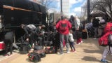 The Iowa State men's basketball team arrived in Tulsa for the NCAA Tournament on Wednesday.