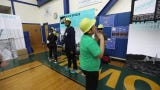 Middle School students from 12 Bergen County schools got together for a bridge building competition, in South Hackensack, Wednesday, March 20, 2019.