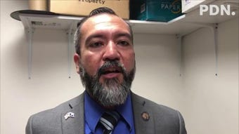 Sen. Clynt Ridgell on Thursday says it's unfortunate that the Republican Party is turning the issue of legalizing recreational marijuana use into a partisan one, adding that voters elected senators, like him, to pass legislation.