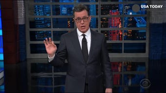 Seth Meyers, Stephen Colbert, Trevor Noah and Jimmy Kimmel find some humor in the conundrum Donald Trump and Geroge Conway have put Kellyanne in.