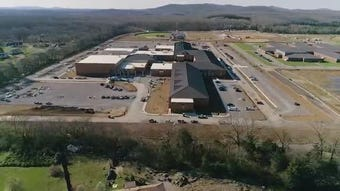 Footage of Rockvale High campus, courtesy Rutherford County government; the school will open fall 2019